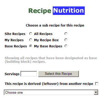 The recipe picker gives you a variety of ways to pick 'sub' recipes for you main recipe.
